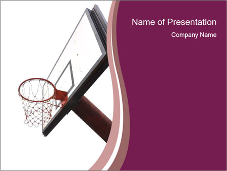 Basketball board PowerPoint Templates