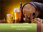Beer barrel PowerPoint Templates