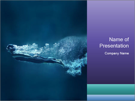 Professional swimmer PowerPoint Templates