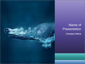 Professional swimmer PowerPoint Templates - Slide 1