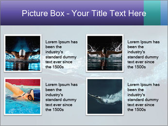 Professional swimmer PowerPoint Template - Slide 14