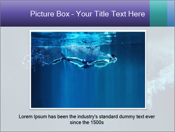 Professional swimmer PowerPoint Template - Slide 15