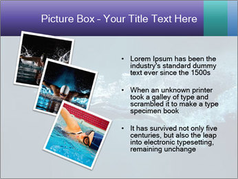 Professional swimmer PowerPoint Template - Slide 17