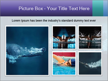 Professional swimmer PowerPoint Template - Slide 19