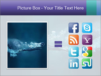 Professional swimmer PowerPoint Template - Slide 21