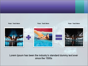 Professional swimmer PowerPoint Template - Slide 22