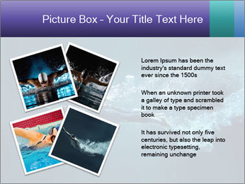 Professional swimmer PowerPoint Template - Slide 23