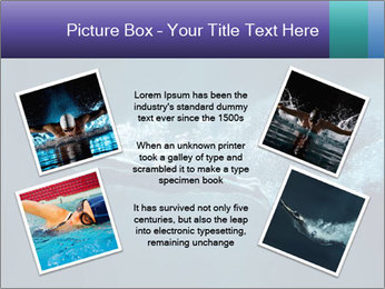 Professional swimmer PowerPoint Template - Slide 24