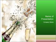 Champagne explosion PowerPoint Templates