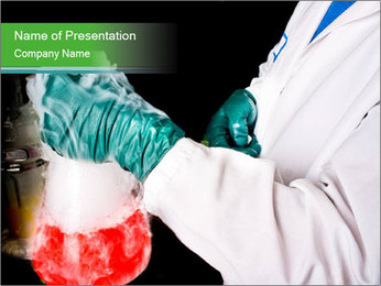 Red chemical PowerPoint Template