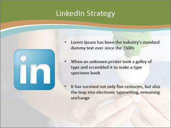 Hand holding eco light bulb PowerPoint Template - Slide 12