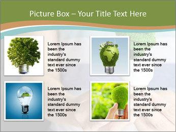 Hand holding eco light bulb PowerPoint Template - Slide 14