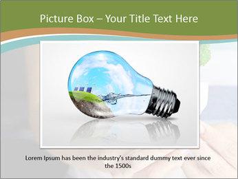 Hand holding eco light bulb PowerPoint Template - Slide 15