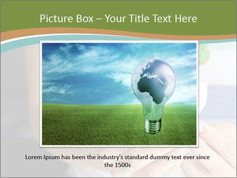 Hand holding eco light bulb PowerPoint Template - Slide 16
