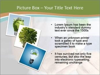 Hand holding eco light bulb PowerPoint Template - Slide 17