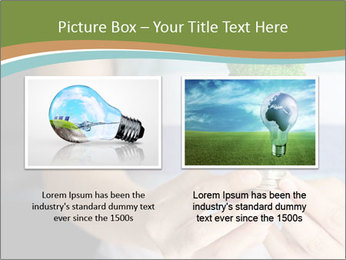 Hand holding eco light bulb PowerPoint Template - Slide 18
