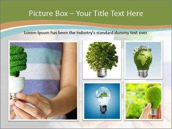Hand holding eco light bulb PowerPoint Template - Slide 19