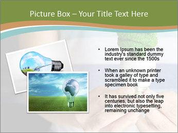 Hand holding eco light bulb PowerPoint Template - Slide 20