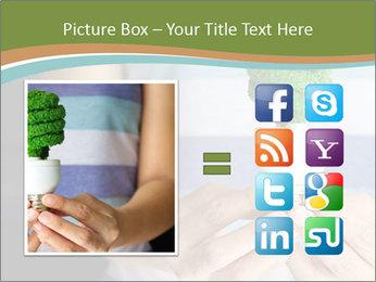 Hand holding eco light bulb PowerPoint Template - Slide 21