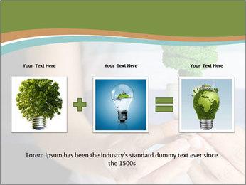 Hand holding eco light bulb PowerPoint Template - Slide 22