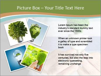 Hand holding eco light bulb PowerPoint Template - Slide 23