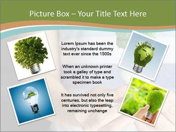 Hand holding eco light bulb PowerPoint Template - Slide 24