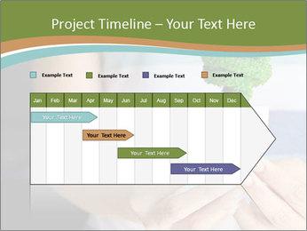 Hand holding eco light bulb PowerPoint Template - Slide 25