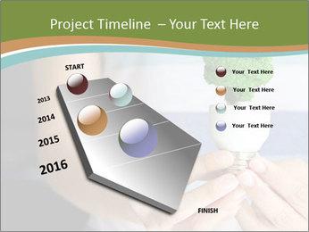 Hand holding eco light bulb PowerPoint Template - Slide 26