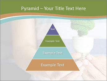 Hand holding eco light bulb PowerPoint Template - Slide 30