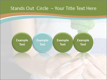 Hand holding eco light bulb PowerPoint Template - Slide 76