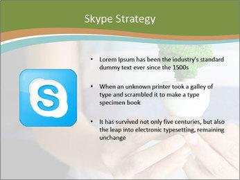Hand holding eco light bulb PowerPoint Template - Slide 8