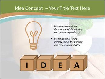 Hand holding eco light bulb PowerPoint Template - Slide 80