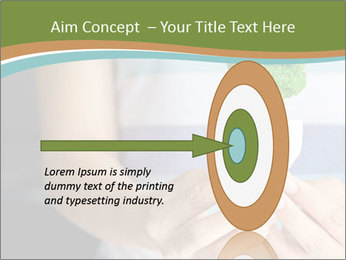 Hand holding eco light bulb PowerPoint Template - Slide 83