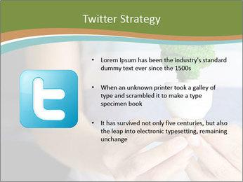 Hand holding eco light bulb PowerPoint Template - Slide 9