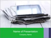Stack of old newspapers PowerPoint Template