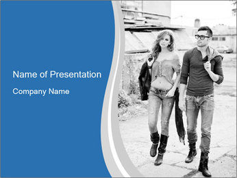 Sexy and stylish young couple PowerPoint Template