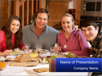 Teenage Family PowerPoint Template