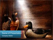 Wood hunting duck PowerPoint Templates
