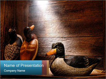Wood hunting duck PowerPoint Template - Slide 1