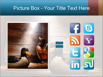 Wood hunting duck PowerPoint Template - Slide 21