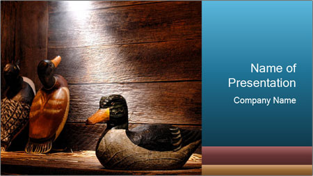 Wood hunting duck PowerPoint Template