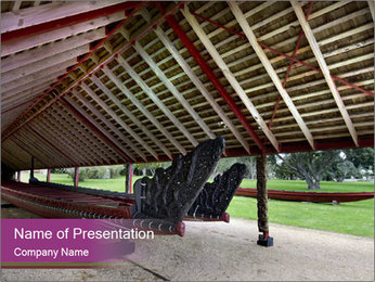 Canoe house PowerPoint Template