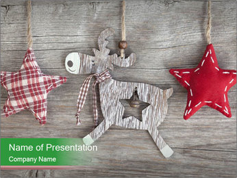 Wooden christmas PowerPoint Template