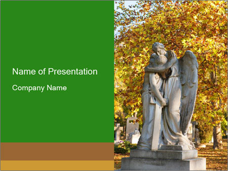Sculpture of angels PowerPoint Template