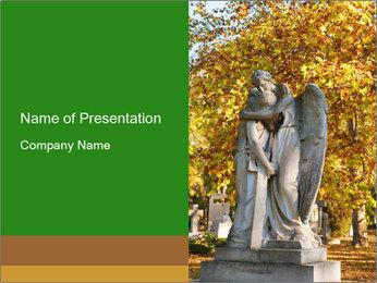 Sculpture of angels PowerPoint Template - Slide 1