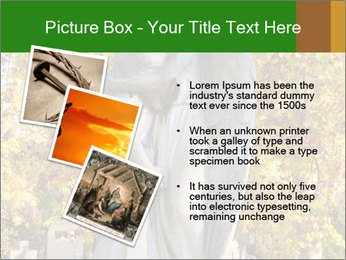Sculpture of angels PowerPoint Template - Slide 17