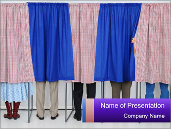 Women casting PowerPoint Template