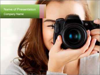 Photographer woman PowerPoint Template - Slide 1