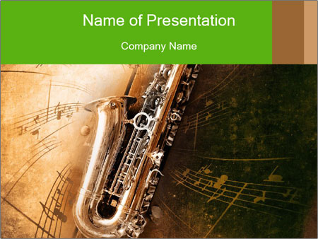 Retro Sax PowerPoint Template