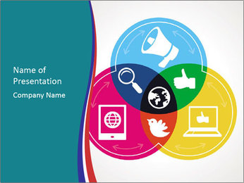Social media concept Modèles des présentations  PowerPoint